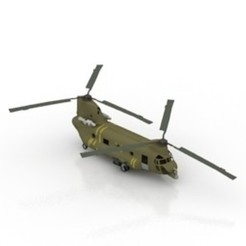 Download free STL file Helicopter CH-47 Chinook • Design to 3D print, filamentone