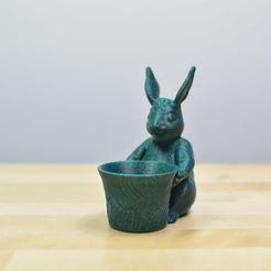 Download free 3D printer templates Easter Bunny Toy/Pot/Planter, filamentone