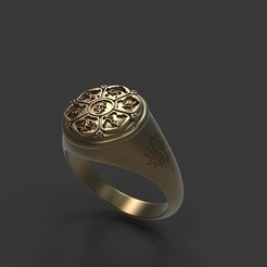 untitled.42.jpg Download STL file Mantra Lotus Flower Ring • 3D print design, stavros