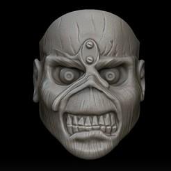 1.jpg Download STL file Iron Maiden Eddie ring. • 3D printing design, stavros