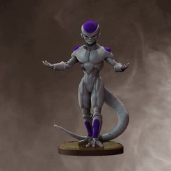 Base Render.jpg Download STL file Dragonball Frieza • 3D print object, stavros