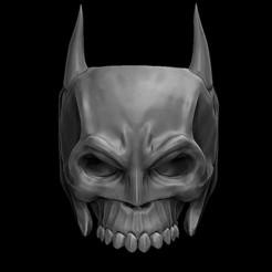 1.1.jpg Download OBJ file Batman Skull Ring • 3D printing model, stavros