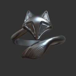 Descargar modelo 3D anillo de zorro estilizado, stavros