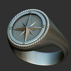 1.jpg Download OBJ file Nautical Star Ring 3D print model • 3D printing template, stavros