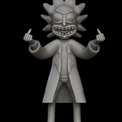 Download 3D printing templates Ricky Sanchez from Rick and Morty series, stavros