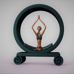 c.jpg Download STL file YOGA GIRL STATUE • 3D print model, stavros
