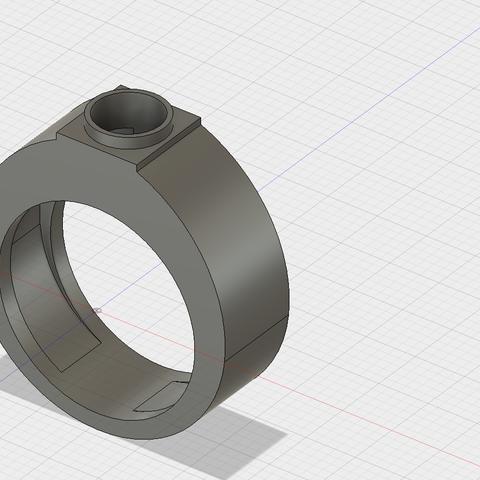 Download free STL file ring v1 • 3D printer template, NazarethFamilly