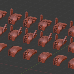 Head bunch.png Download free STL file FW.Pattern Crisis Heads • 3D printing design, Poyper