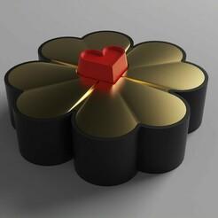 1.jpg Download free STL file Jewellery Box - Hearts Clover • 3D printer template, Dreamer_3D