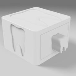 Télécharger objet 3D gratuit // Boîte a dents // Tooth box, Dreamer_3D