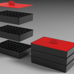 RENDU.png Download free STL file Stackable storage boxes • 3D printing template, Dreamer_3D