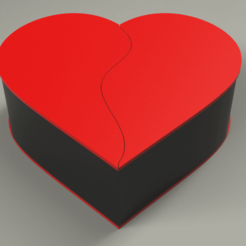 0.png Download free STL file Jewelry box - Split hearts • 3D printer template, Dreamer_3D