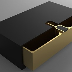 Download free STL file Sliding Box - 2 Compartments, Dreamer_3D