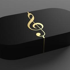 1.jpg Télécharger fichier STL gratuit Boîte à Bijoux - Dual Opening - Treble Clef • Design à imprimer en 3D, Dreamer_3D