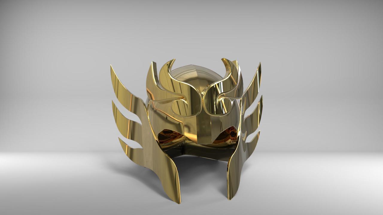 librahelmet1.jpg Download STL file Libra Armor Helmet // Libra myth cloth helmet • 3D print design, MLBdesign