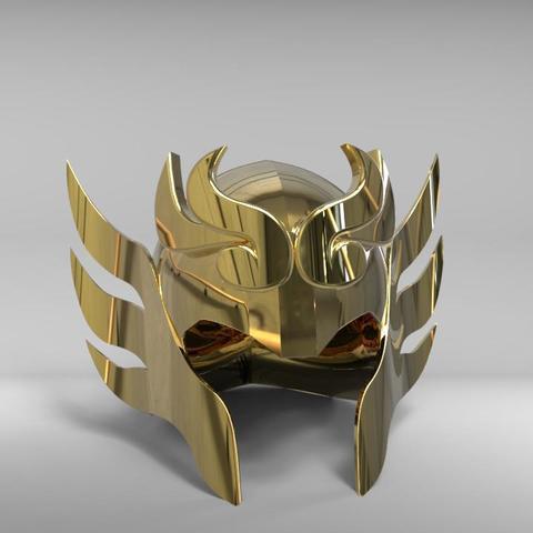 Download 3D printing designs Libra Armor Helmet // Libra myth cloth helmet, MLBdesign