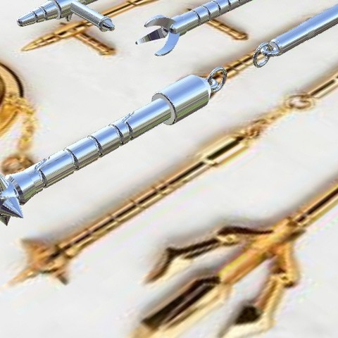 weaponslibra4.jpg Download STL file Libra Gold Saint weapons from Saint Seiya 3D print model • 3D printable model, MLBdesign