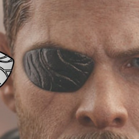 Imprimir en 3D Thor eyepatch from Thor Ragnarok and Infinity War 3D print model, MLBdesign
