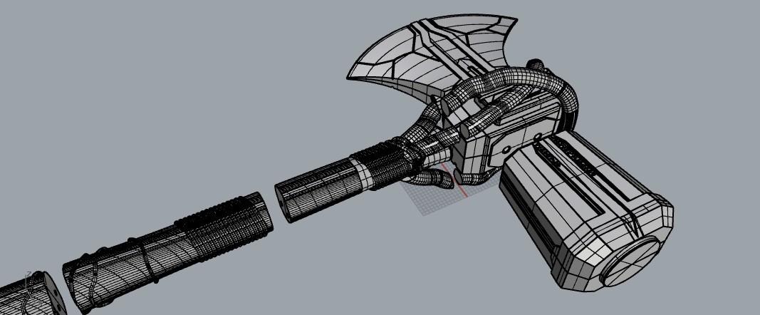 stormbreaker2.jpg Download STL file Stormbreaker New Thor's Weapon from infinity war • 3D print model, MLBdesign