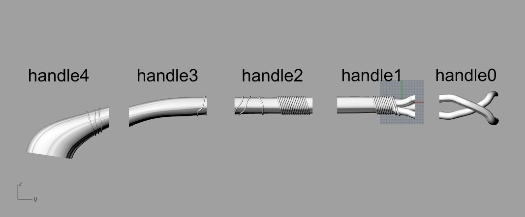handlepieces.jpg Download STL file Stormbreaker New Thor's Weapon from infinity war • 3D print model, MLBdesign