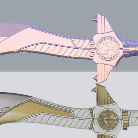 sabasword11.jpg Download STL file Power Rangers Legacy Legacy Saba Sword replica 3D print model // Power Rangers saba sword • Object to 3D print, MLBdesign