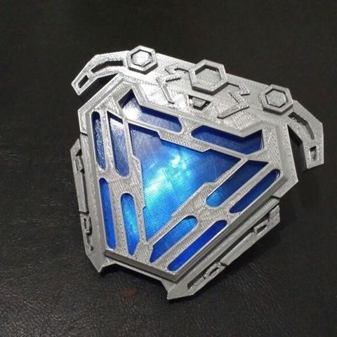 STL Arc reactor nanotech iron man from infinity war, MLBdesign
