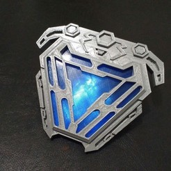 Imprimir en 3D Arc reactor nanotech iron man from infinity war, MLBdesign