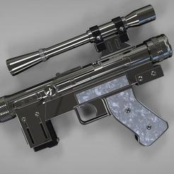 Lando's blaster 2.jpg Télécharger fichier STL Lando Calrissian SE14R Blaster • Modèle à imprimer en 3D, MLBdesign