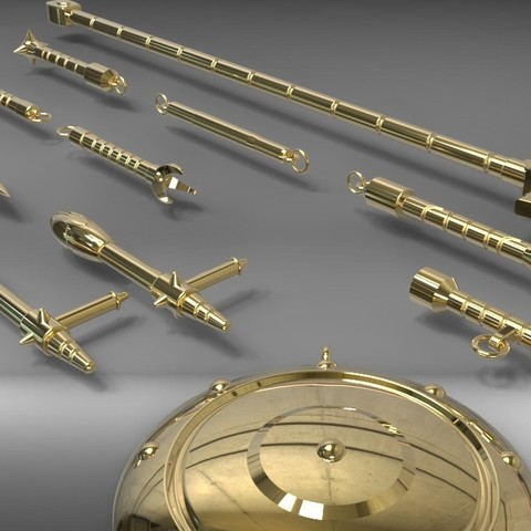libraweapons2.jpg Download STL file Libra Gold Saint weapons from Saint Seiya 3D print model • 3D printable model, MLBdesign