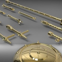 3d printer designs Libra Gold Saint weapons from Saint Seiya 3D print model, MLBdesign