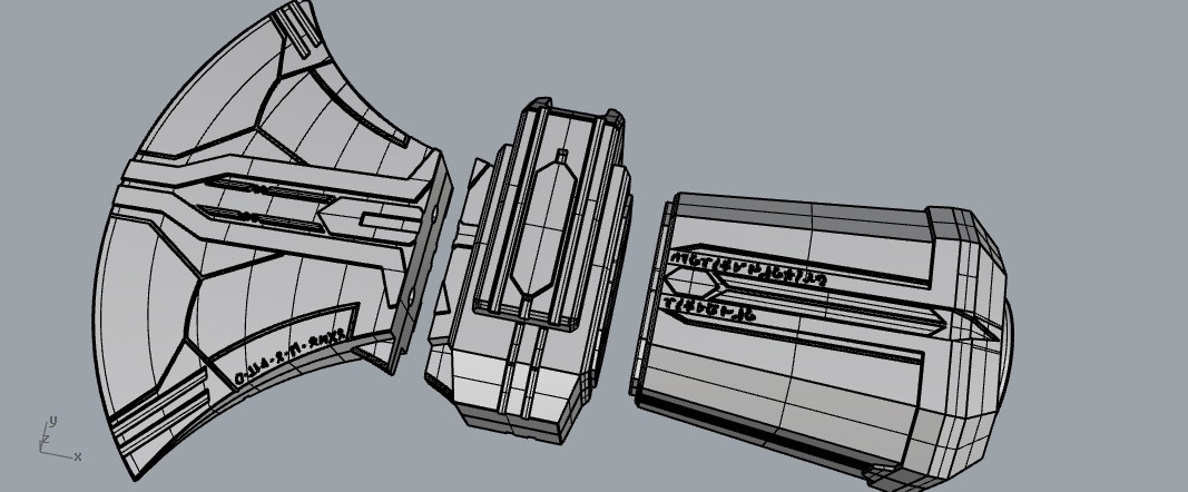 hammeraxemk2.jpg Download STL file Stormbreaker New Thor's Weapon from infinity war • 3D print model, MLBdesign