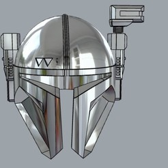 Download 3D printer templates The Mandalorian Paz Vizsla Heavy infantry helmet 3D print model, MLBdesign