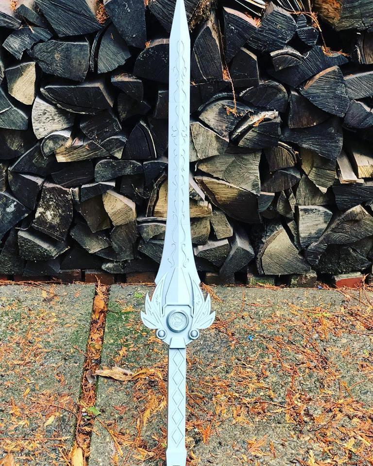 power_sword1.jpg Download STL file Power rangers Legacy Red Ranger Sword • 3D printable template, MLBdesign