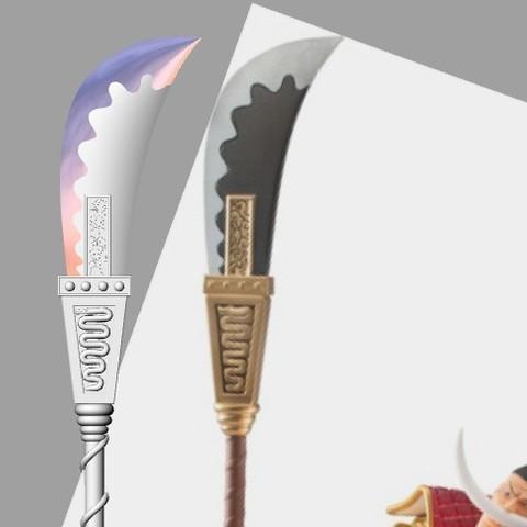whitebeard_spear3.jpg Download STL file Bisento Spear of white beard One Piece 3D print model • 3D printable design, MLBdesign