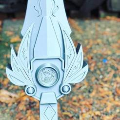 Descargar modelo 3D Power rangers Legacy Red Ranger Sword 3D print model // Espada del ranger rojo, MLBdesign