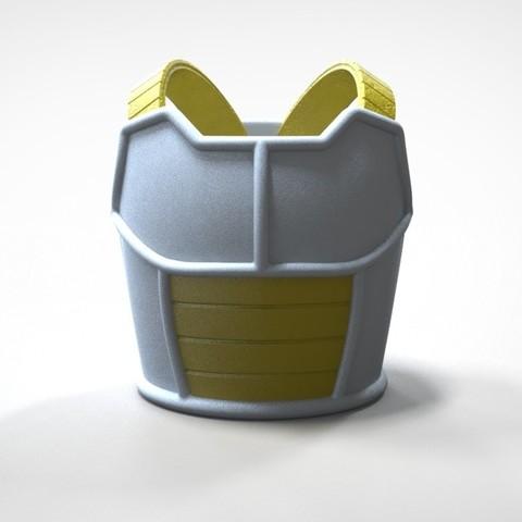 Download 3D printer designs Saiyan Armor Vegeta Dragon Ball Z 3D print model, MLBdesign