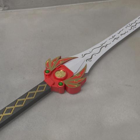 Red_ranger_Sword_ final.jpg Download STL file Power rangers Legacy Red Ranger Sword • 3D printable template, MLBdesign