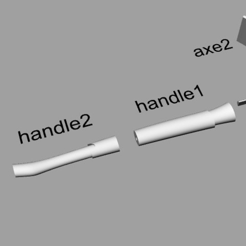 fortniteaxepieces.jpg Download STL file Fortnite's axe! / Fortnite Axe! • 3D print design, MLBdesign