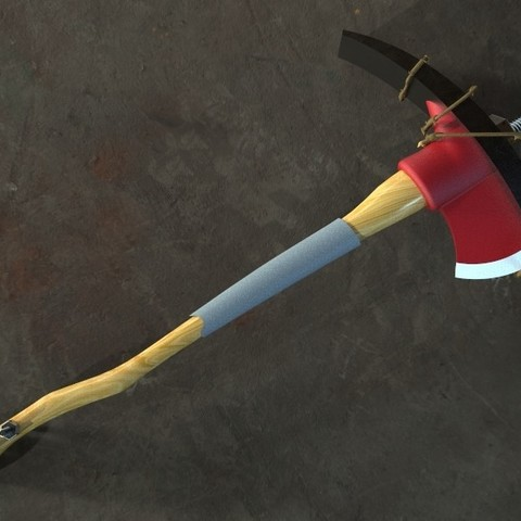 untitled.34.jpg Download STL file Fortnite's axe! / Fortnite Axe! • 3D print design, MLBdesign