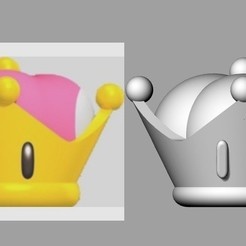 Download 3D printing designs Bowsette crown of princess Bowsette de MarioBross, MLBdesign