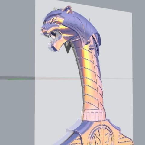 sabasword10.jpg Download STL file Power Rangers Legacy Legacy Saba Sword replica 3D print model // Power Rangers saba sword • Object to 3D print, MLBdesign