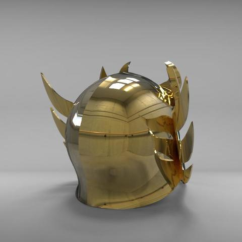 helmet3.jpg Download STL file Libra Armor Helmet // Libra myth cloth helmet • 3D print design, MLBdesign