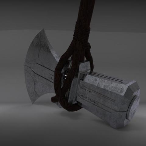 stormbreaker6.jpg Download STL file Stormbreaker New Thor's Weapon from infinity war • 3D print model, MLBdesign