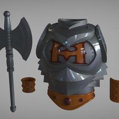 Battle_armor.jpg Download STL file He-Man Battle armor real life scale cosplay • 3D printing model, MLBdesign