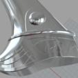 3D print files The Lunar Steel War Axe from skyrim 3D print model // Skyrim war axe for 3d printing, MLBdesign