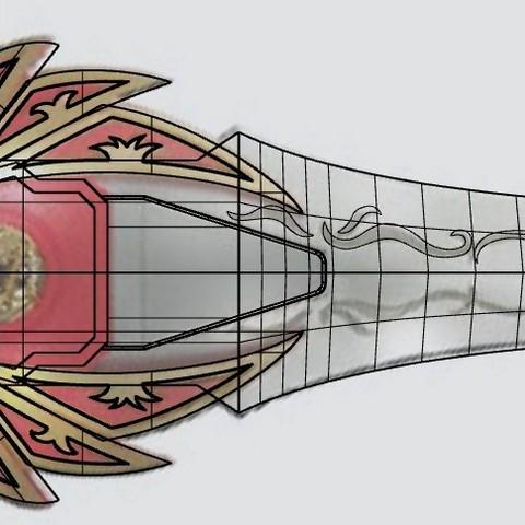 red_ranger_sword1.jpg Download STL file Power rangers Legacy Red Ranger Sword • 3D printable template, MLBdesign