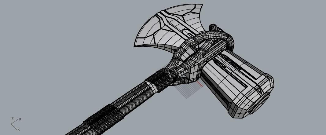 stormbreaker1.jpg Download STL file Stormbreaker New Thor's Weapon from infinity war • 3D print model, MLBdesign
