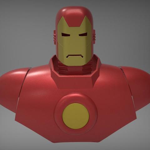 3D print files Classic Iron Man Armor Iron Man Man vintage armor, MLBdesign