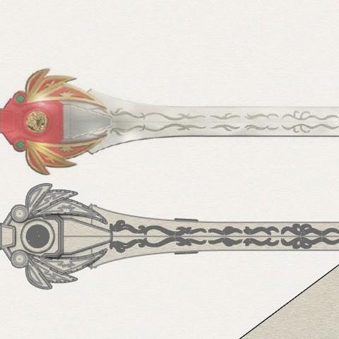 Red_ranger_sword4.jpg Download STL file Power rangers Legacy Red Ranger Sword • 3D printable template, MLBdesign