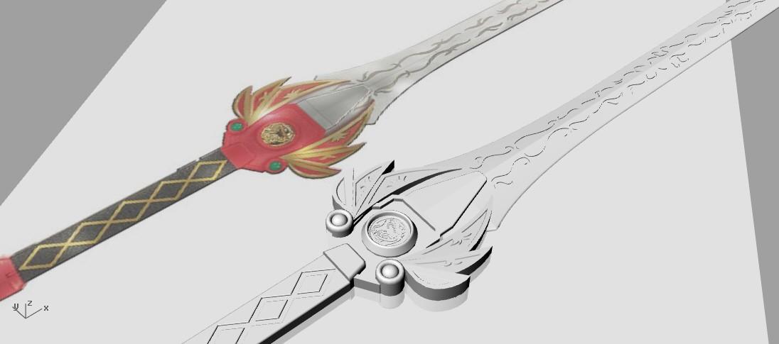 Red_ranger_sword_pers.jpg Download STL file Power rangers Legacy Red Ranger Sword • 3D printable template, MLBdesign